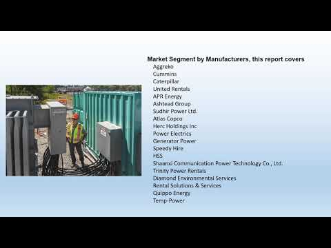 Global Temporary Power Market Report 2018 Forecast to 2023