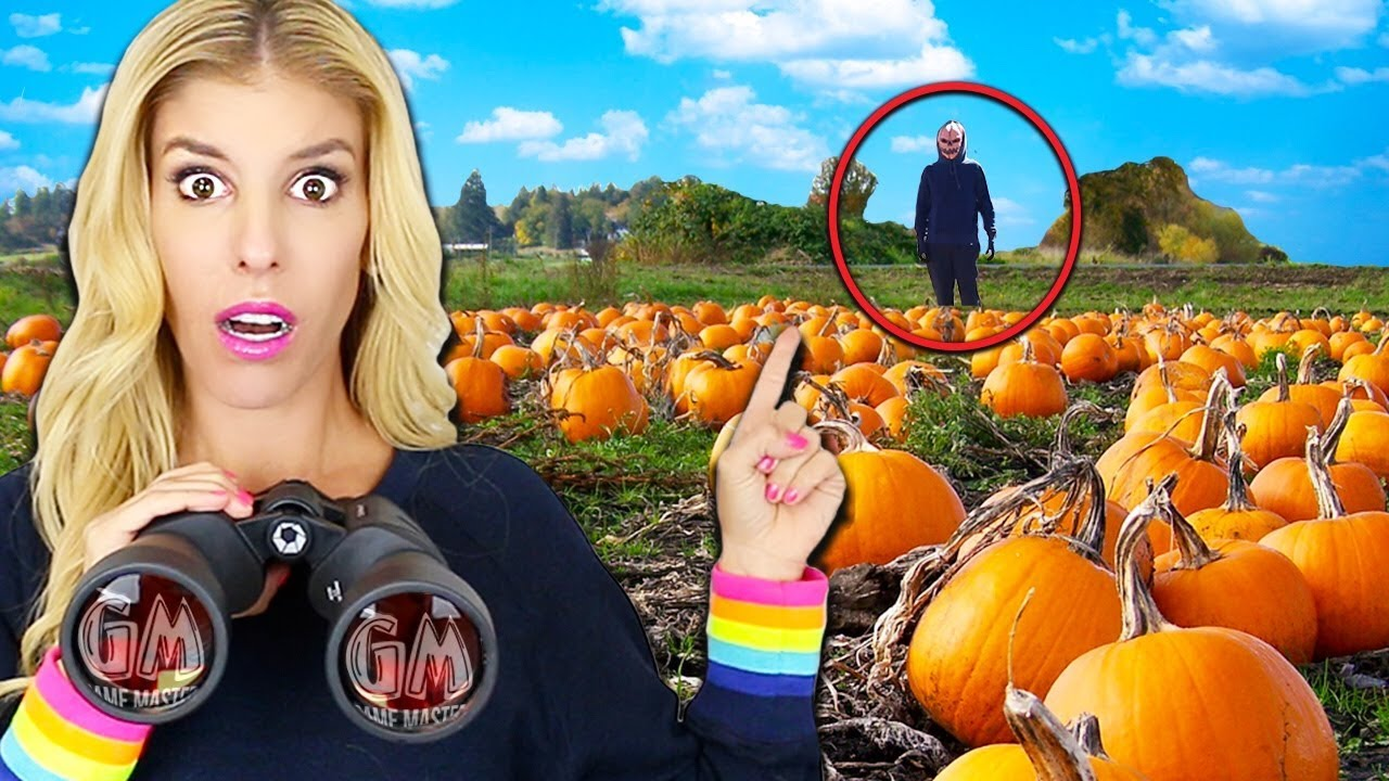 Spying on Ex GAME MASTER SPY at Abandoned Halloween Pumpkin Patch Hideout (Escape Room in Real Life)