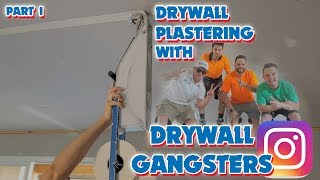 Pro Drywall Plastering with the Drywall Gangsters