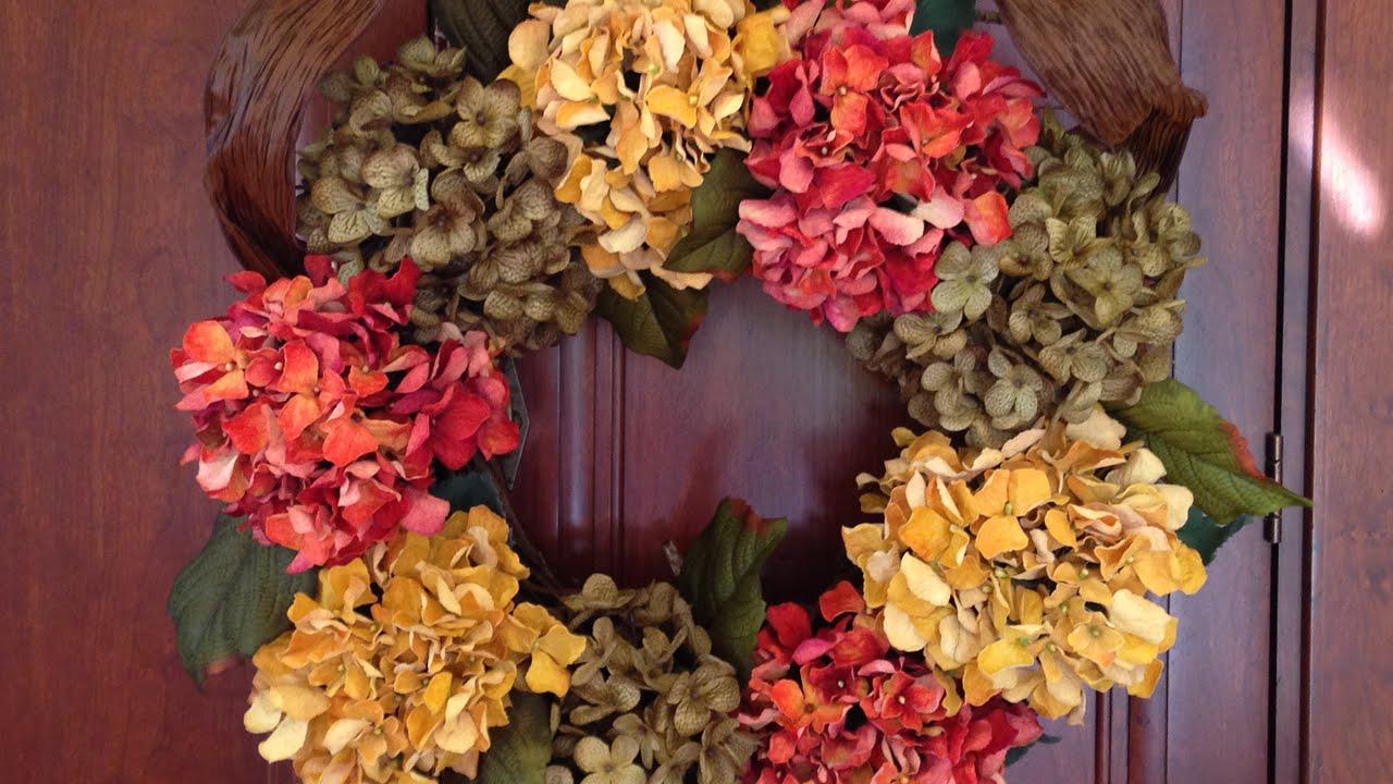 Fall Hydrangea Wreath Youtube