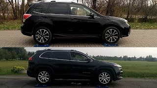 Subaru Forester XT S-AWD vs Jeep Cherokee Active Drive I - 4x4 test on rollers