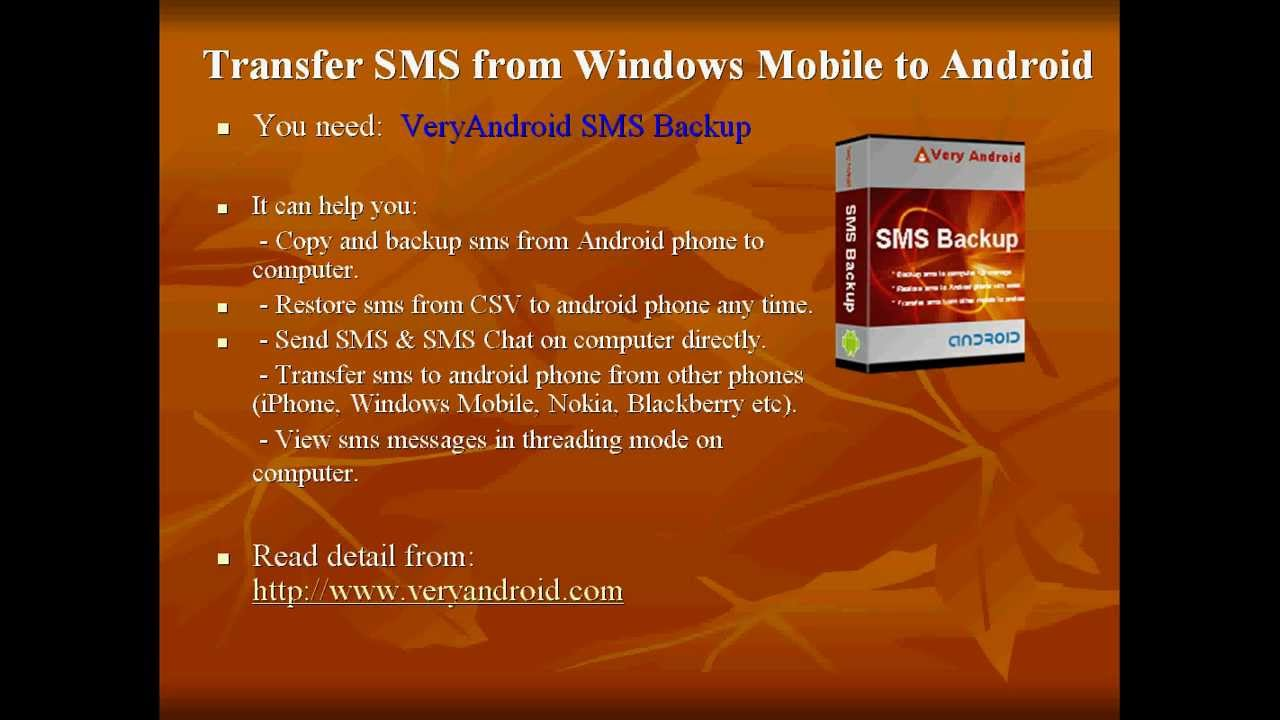 How to transfer SMS from Windows Mobile to Android with ease