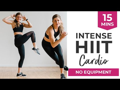 15-Minute HIIT Cardio Workout Video   No Equipment Workout, Intense Cardio + Full Body Workout