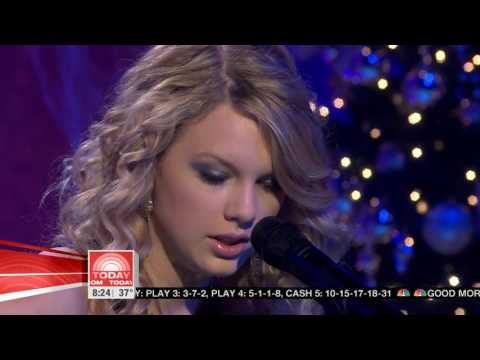 Taylor Swift-Christmas Is When You Were Mine- [Live Today Show 2007]