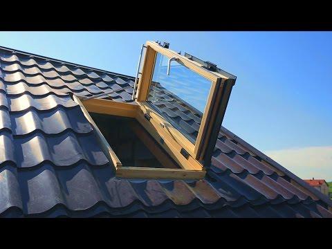 Устанавливаем мансардные окна Velux с сервоприводом.