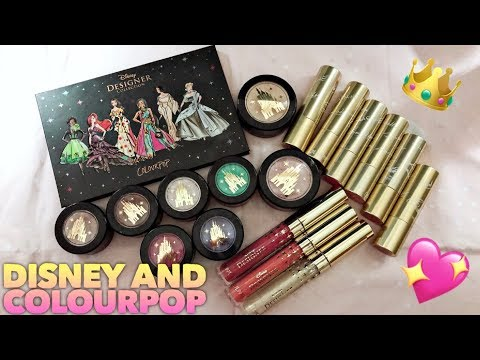 COLOURPOP DISNEY PRINCESS COMPLETE COLLECTION || REVIEW - TUTORIAL - SWATCHES & COSPLAY LOOKS