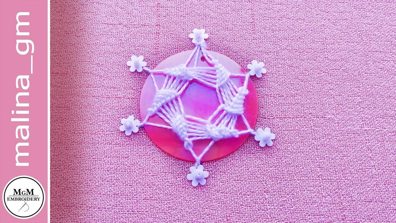 Вышивка Модная индийская вышивка Шиша. Супер идея с пайетками  #malina_gm