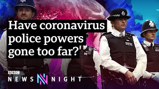 Coronavirus: On the road with British police enforcing social distancing - BBC Newsnight