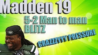 Madden 19 5-2 UNIQUE BLITZ!!! CONFUSE OPPONENTS!