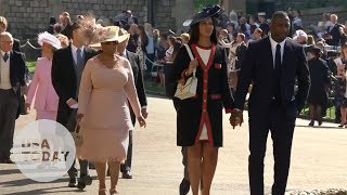 Idris Elba and Oprah Winfrey arriving for the royal wedding
