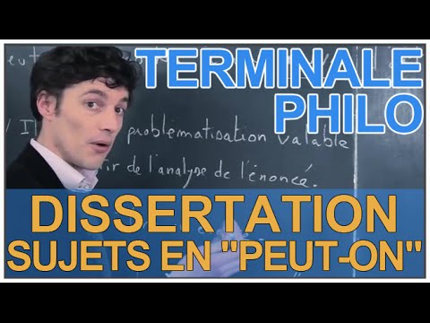 Analyse sujet dissertation philosophie