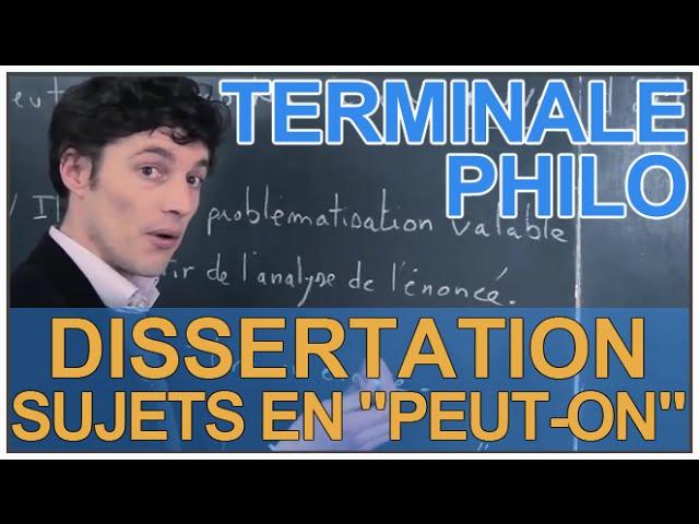 Dissertation sur la culture philosophie