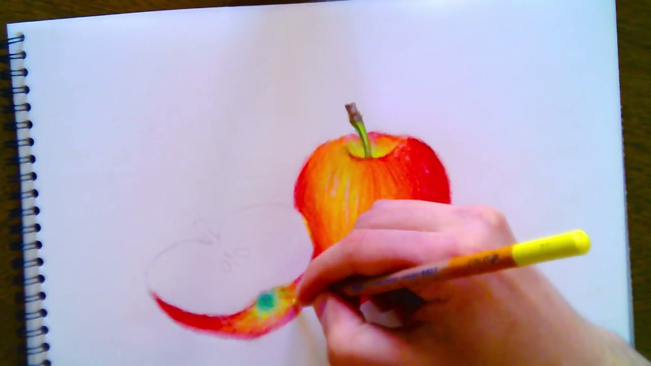 Elma Nasıl çizilir How To Draw Apple Youtube