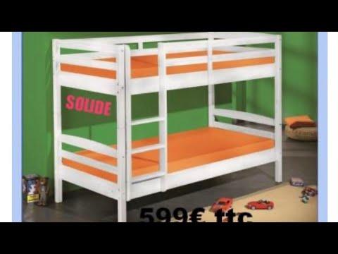 Dream vous installe votre lit superpos ici le qu bec 100 pin ma - Lit superpose pin massif ...