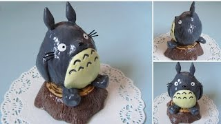 Totoro Figurine Painting ♥ Fimo Air Light Clay (Microwaveable)