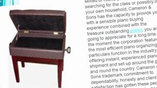 Cameron & Sons Piano Bench With Storage Reviews