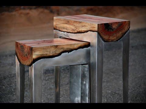 Stunning Wood Aluminum Table Design Ideas