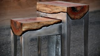 Stunning Wood Aluminum Table Design Ideas