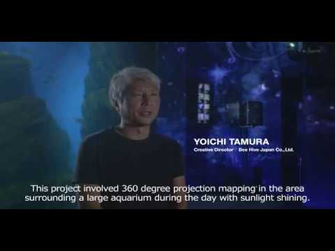 360 Degree Projection Mapping at the Aquarium in Japan