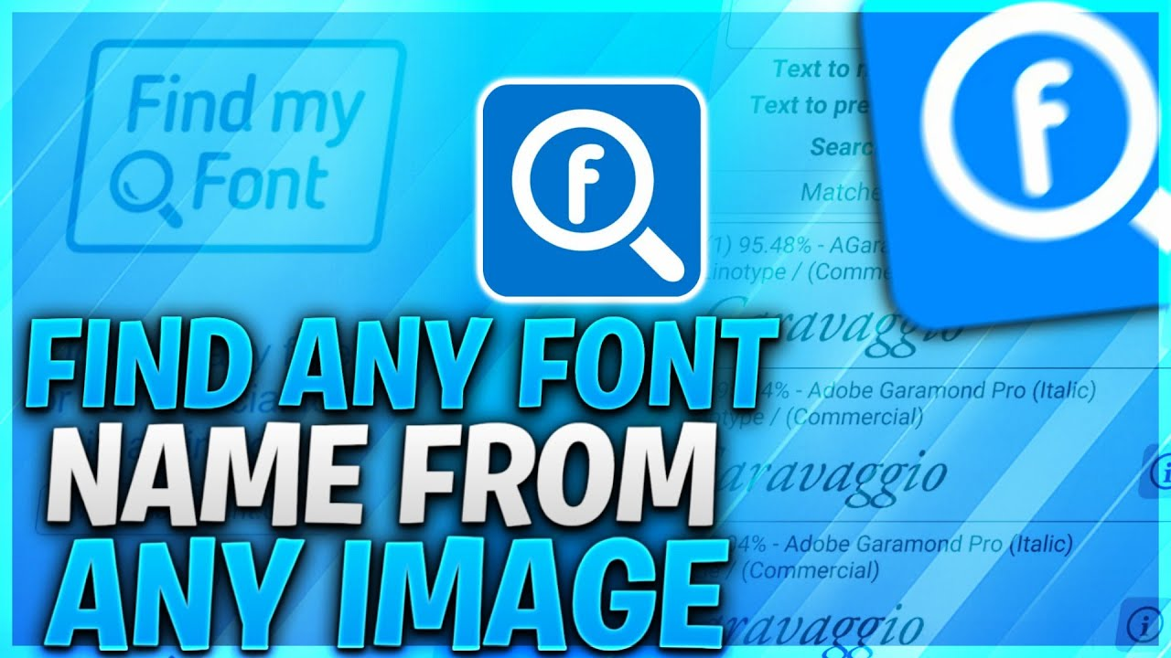 How To Find Any Font Name By Any Image | Find Any Font Name In 10 Second #AquasBrain