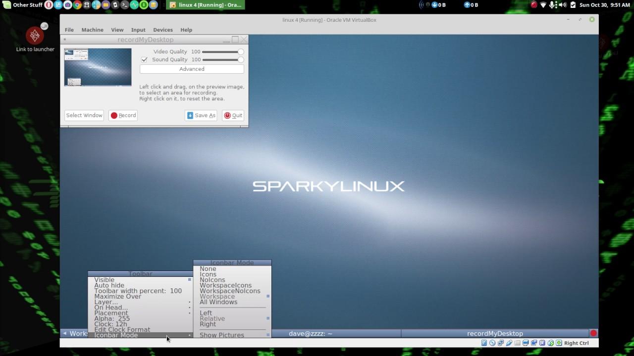 SparkyLinux 4 4 Fluxbox ( environment series )