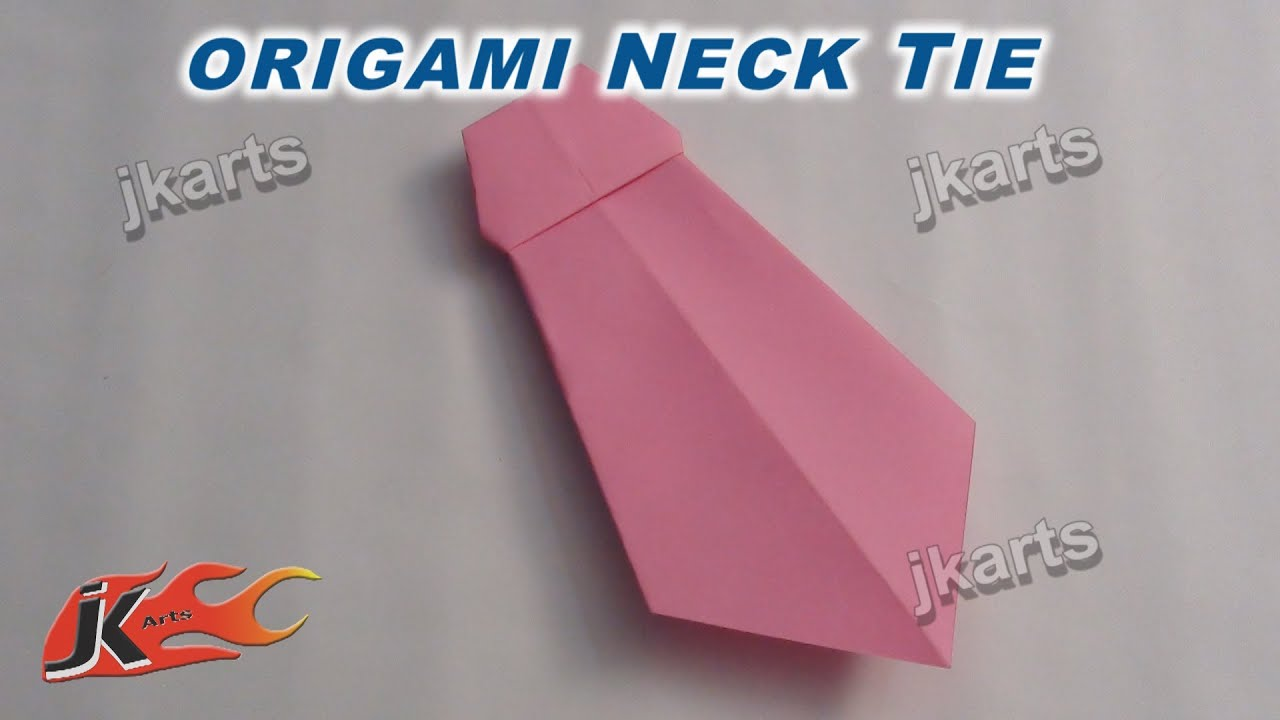 How To Make Origami Neck Tie For Father's Day Card