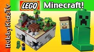 LEGO Minecraft Micro World 21102 HobbyKidsTV Steve Creeper HobbyKidsTV
