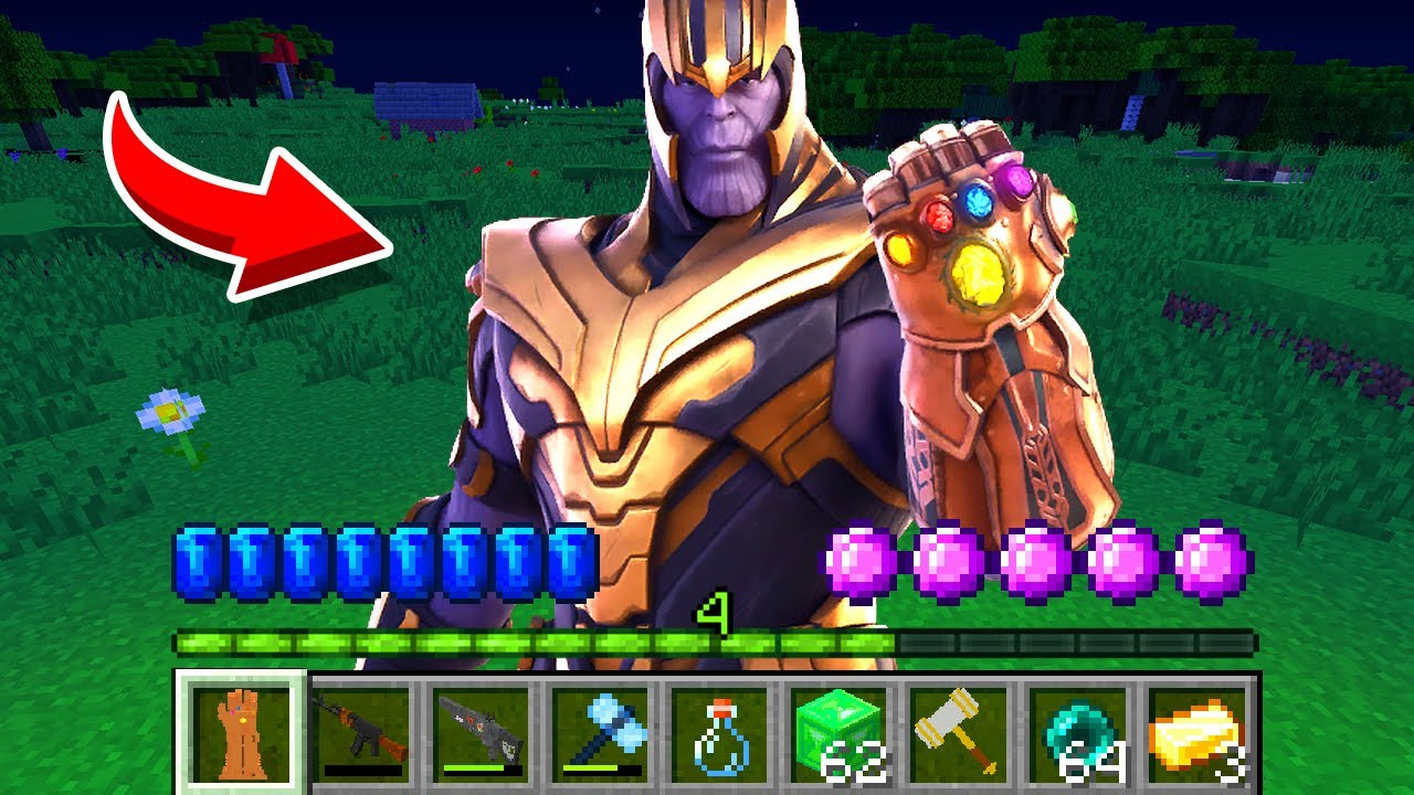 How to play THANOS DADDY in Minecraft! DON'T watch at Infinity Gauntlet! NOOB vs PRO challenge