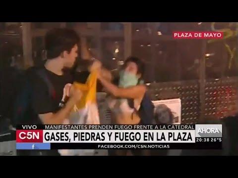 Masked Feminists Attack Man at Church (Argentina)