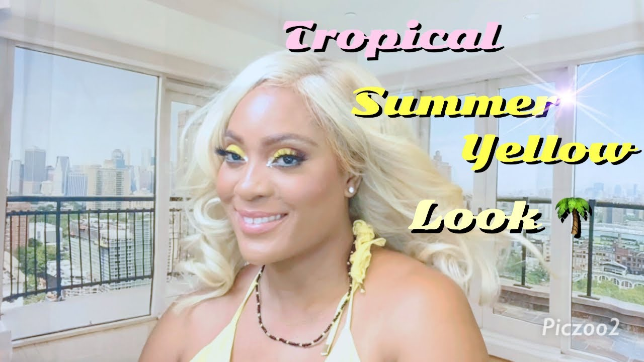 Amazing Tropical Summer Yellow Look