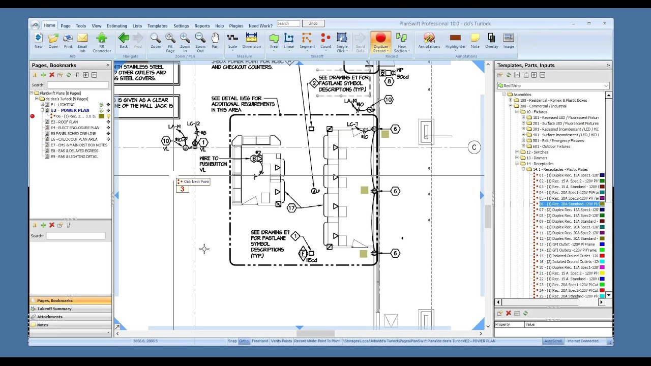 Demonstration Red Rhino Electrical Estimating Software And