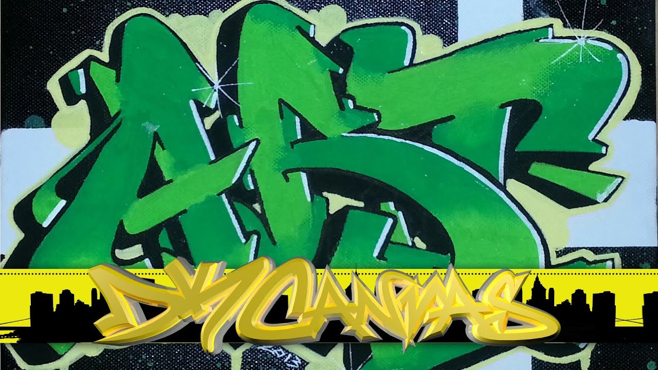 Wildstyle graffiti on canvas graffiti art youtube
