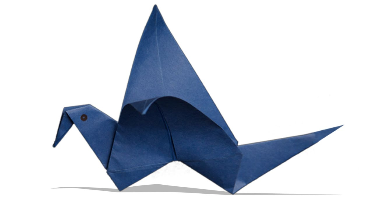 Simple Origami Flying Crane Diagram Electrical Db Wiring 3d Flapping Bird Diy Learn How To