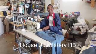House Upholstery HB - 3 piece Sectional custom slipcover project