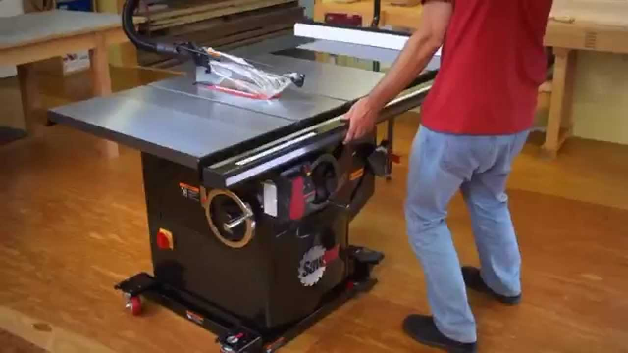 SawStop Industrial Cabinet Saw  YouTube