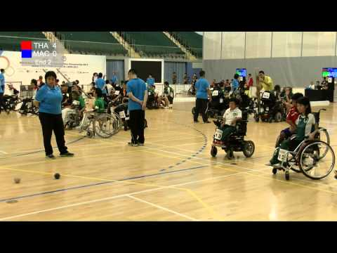 BISFed Asia and Oceania Boccia Team and Pairs Championships 2015 - Match replay (THAILAND VS MACAU)
