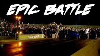A SICK GRUDGE RACE RIGHT HERE! P.O.S. NITROUS TAILPIPE MUSTANG VS A BAD NITROUS STANG!