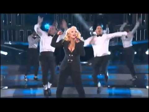 Christina Aguilera performing at the 2015 NBA All Star Game