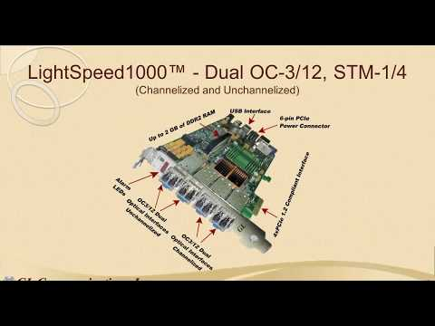 High Speed OC 3 12 and STM 1 4 Channelized & Un channelized Test Platform