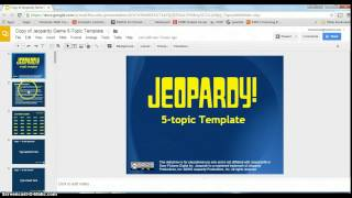 Jeopardy with Google Slides