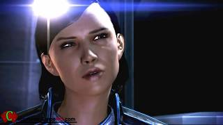 Mass Effect 3 Samantha Traynor Romance Female Shepard Shower Full CutScenes ME3