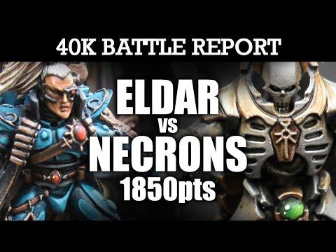 Eldar vs Necrons 40K Battle Report CROWNING GLORY! 7th Ed 1850pts | HD
