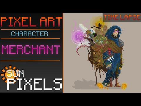 Pixel Art ║ Character ║Merchant║ Time Lapse ║ Speed Art