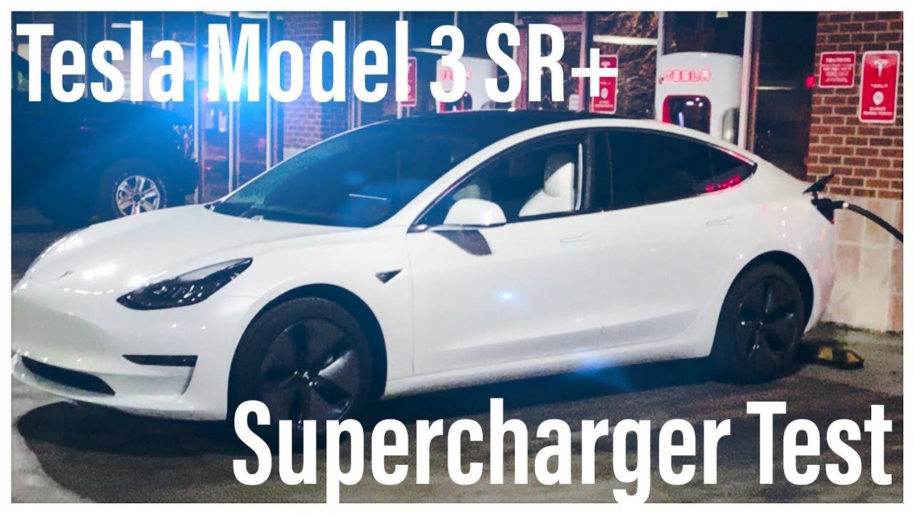 Tesla Supercharger Test | Model 3 Standard Range Plus ...