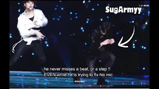 【BTS】Jungkook\'s  accident on stage & his professional response
