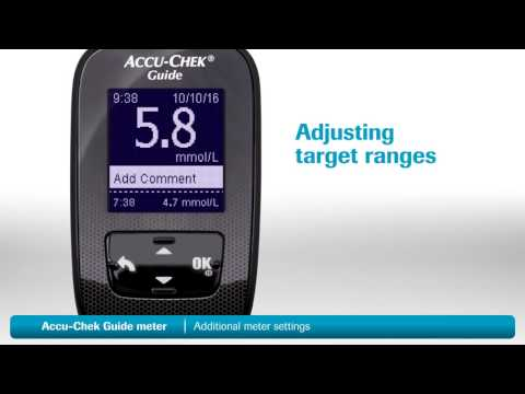 Accu-Chek® Guide Blood Glucose System: Additional Meter Settings