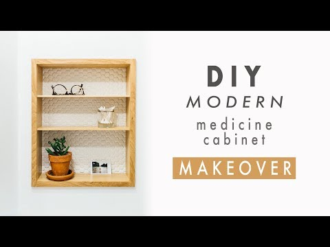 diy-modern-medicine-cabinet-makeover-|-recessed-wall-shelves