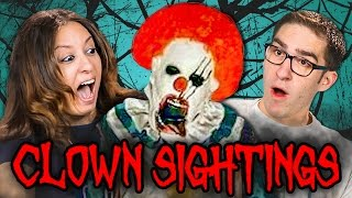 PARENTS REACT TO CREEPY CLOWN SIGHTINGS COMPILATION