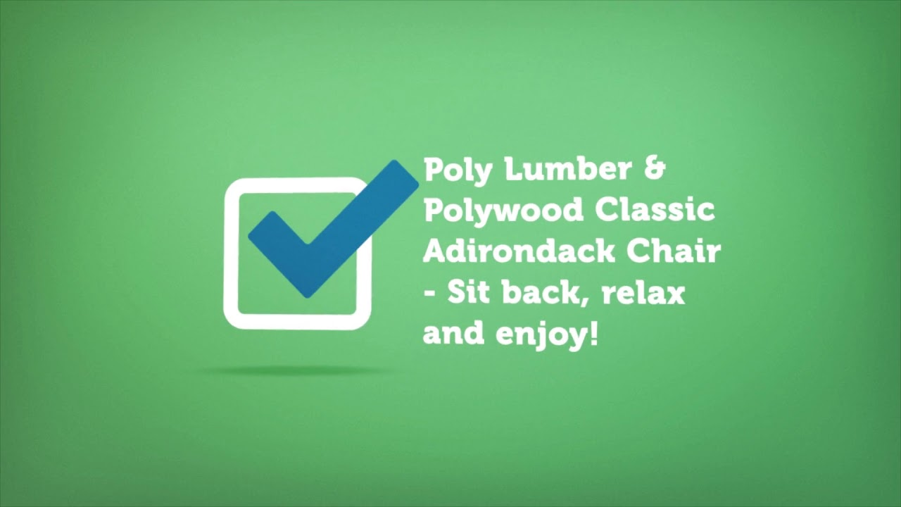 Polywood Classic Adirondack Chair | Premium Poly Patios :  (877-904-1234)