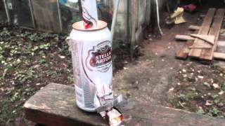 Beer-can Rocket Stove